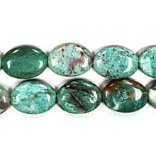 GREEN DRAGON BLOOD FLAT OVAL 18X25MM